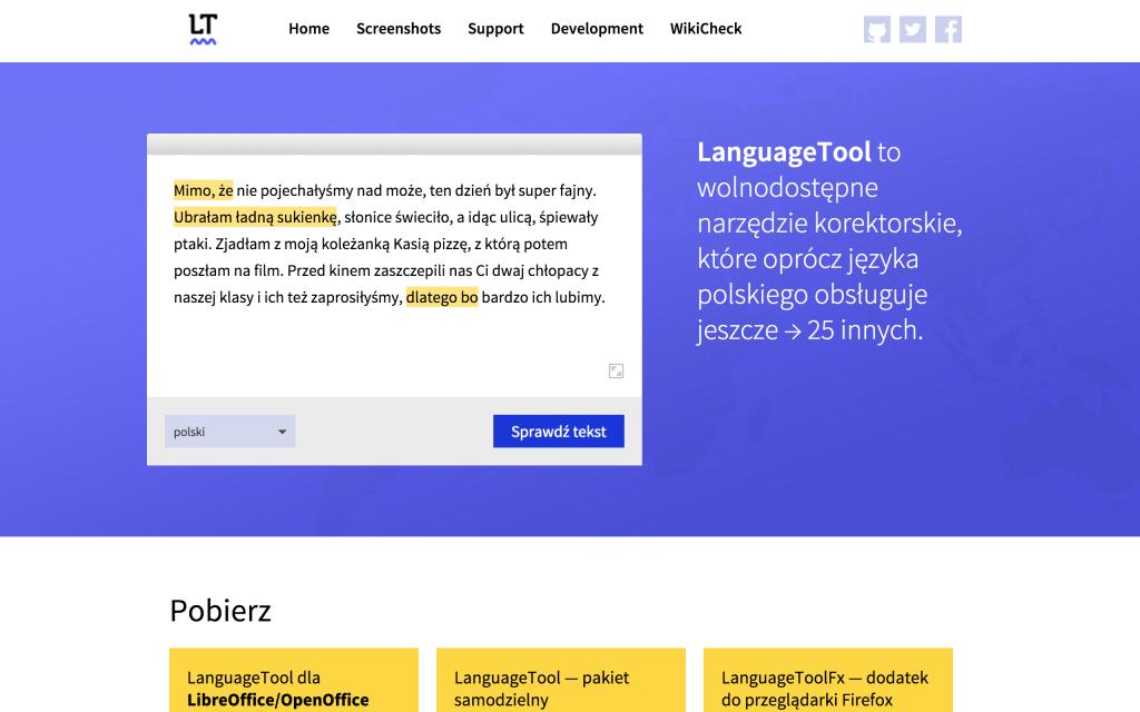 languagetool.org (kliknij wobrazek, żebygo powiększyć)